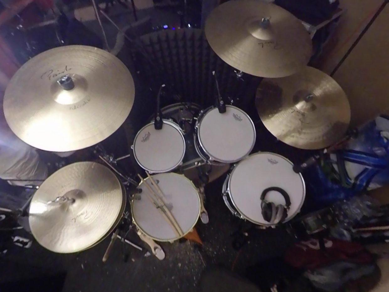 neu rot - drumset
